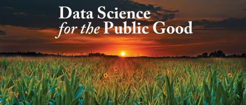 Data Science for the Public Good setting sun in grass